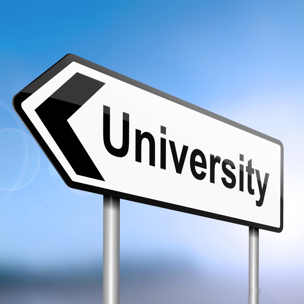 university-sign